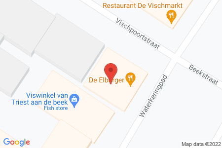 Kaart behorende bij: Terrasvergunning op grond van artikel 2:28 APV gemeente Elburg - De Elburger Broodjes en Snacks