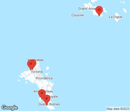 Kart - Seychellene