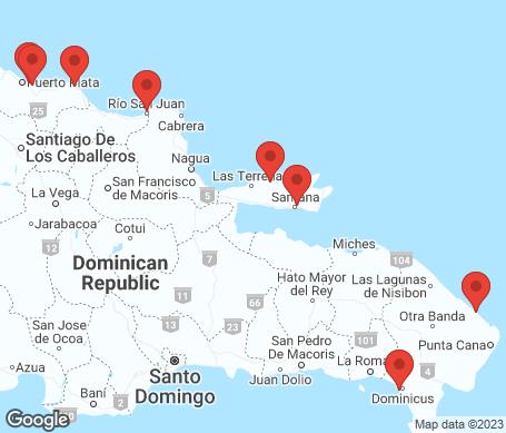 Kartta - Dominikaaninen tasavalta