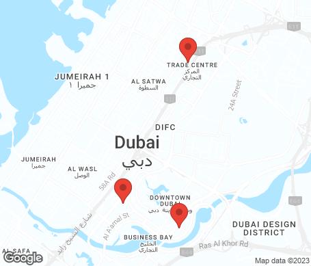 Karta - Downtown Dubai