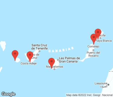 Karta - Kanarieöarna