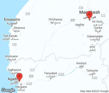 Kartta - Marokko