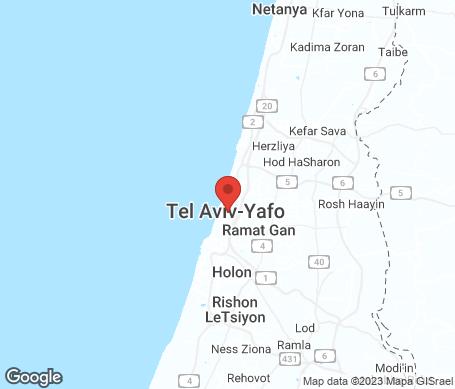 Kartta - Israel
