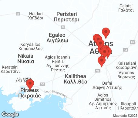Kort - Athen