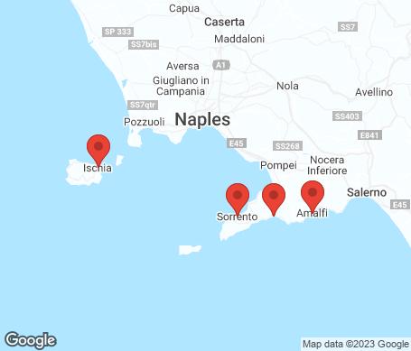 Kartta - Amalfin rannikko