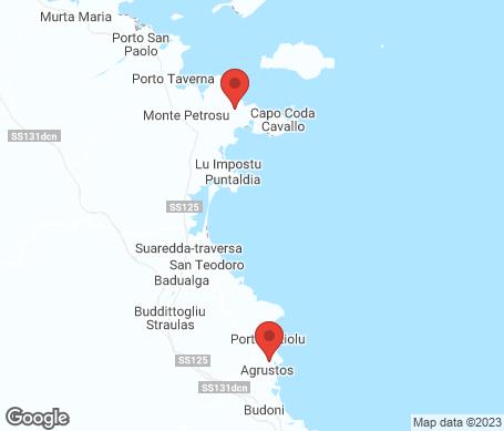 Karta - Budoni