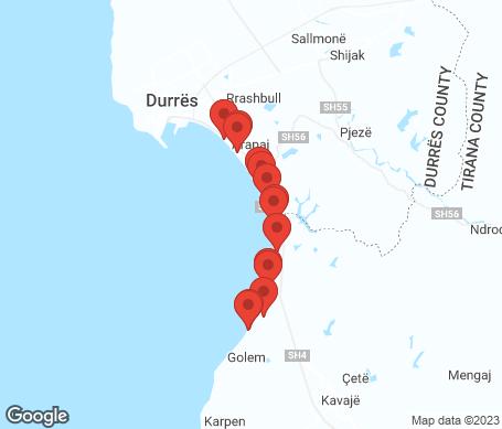 Karta - Durres riviera