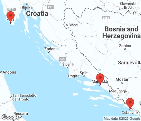 Karta - Kroatien