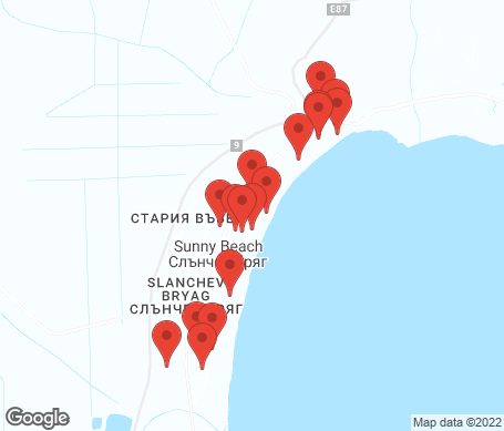 Kartta - Sunny Beach