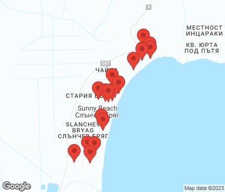 Karta - Sunny Beach