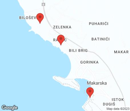 Kartta - Makarska