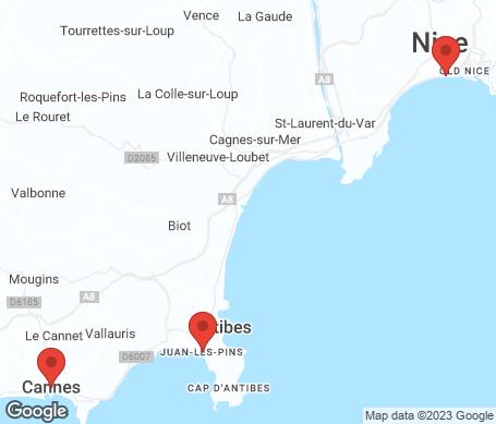 Kart - Den franske riviera