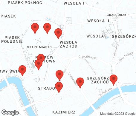 Kartta - Krakova