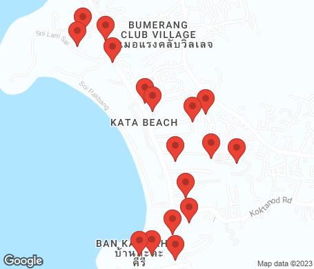 Kartta - Kata Beach