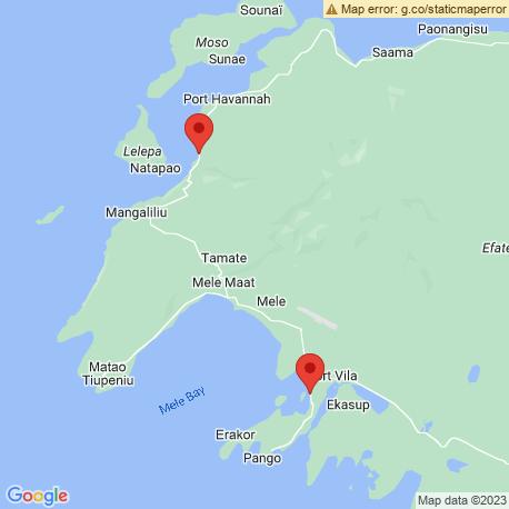 map of fishing charters in Port Vila