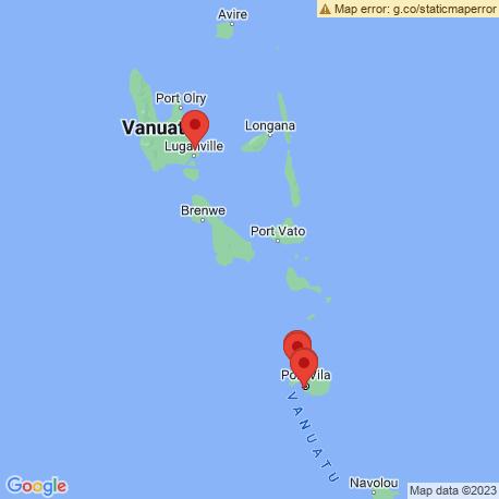 map of fishing charters in Vanuatu