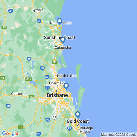 map of fishing charters in Brisbane