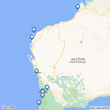 map of fishing charters in Western Australia