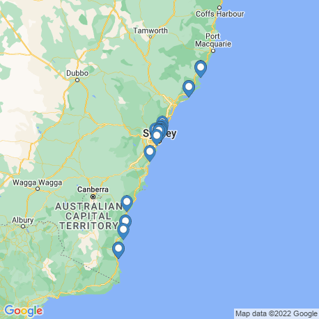 map of fishing charters in New South Wales