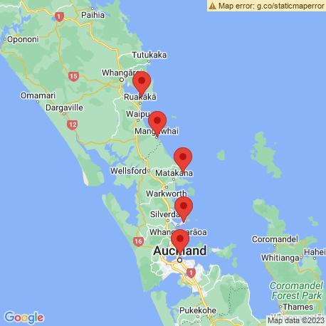 Карта рыбалки – залив Хаураки
