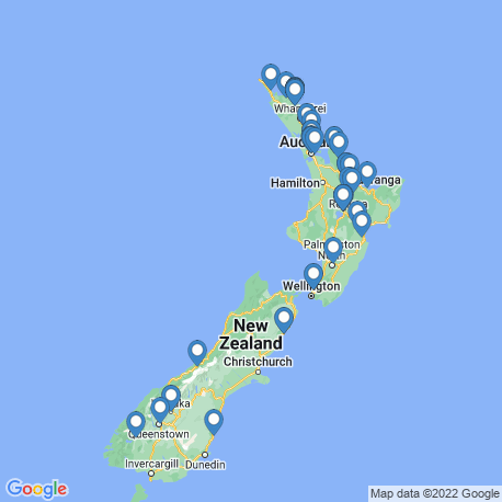 map of fishing charters in New Zealand