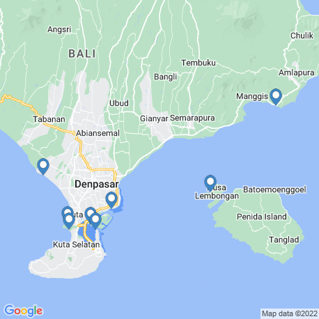 map of fishing charters in Badung