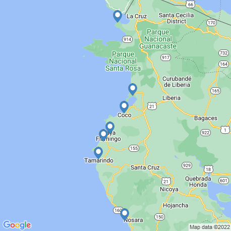map of fishing charters in Coco