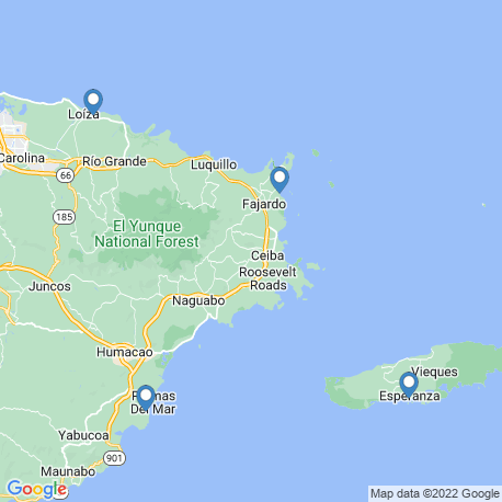 map of fishing charters in Vieques