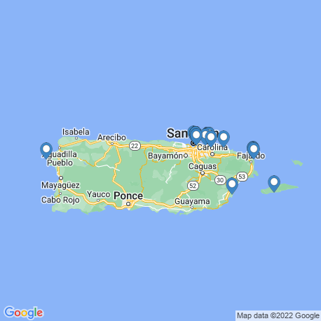 map of fishing charters in Puerto Rico