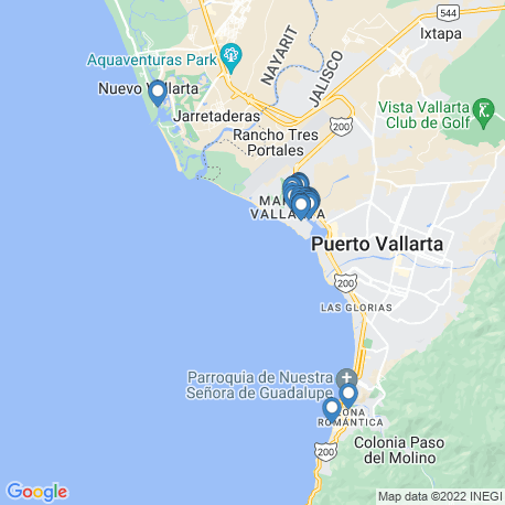 map of fishing charters in Jalisco