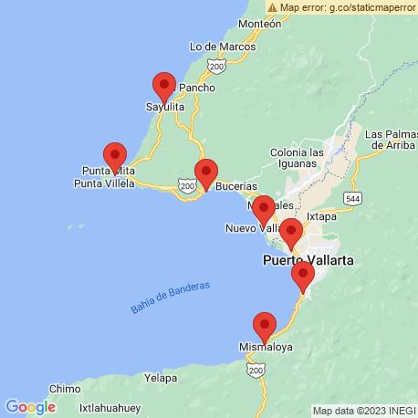map of fishing charters in Nuevo Vallarta