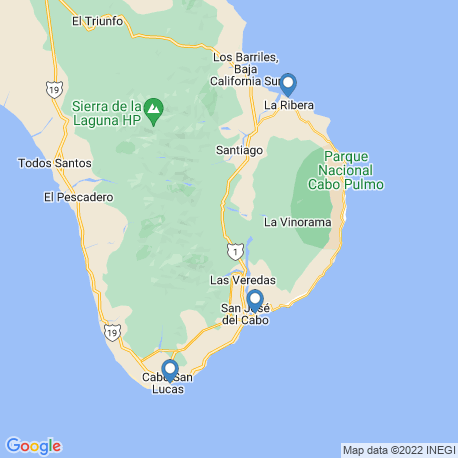 map of fishing charters in San Jose Del Cabo