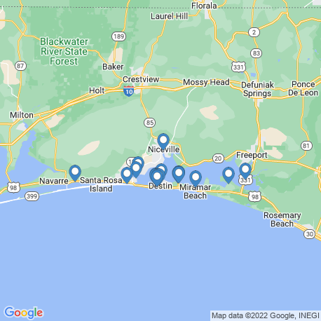 map of fishing charters in Niceville