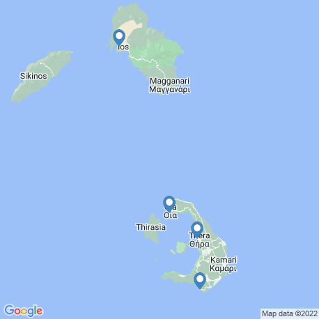 map of fishing charters in Ios