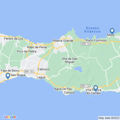 map of fishing charters in Maia S. Miguel Azores