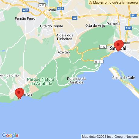 map of fishing charters in Setubal