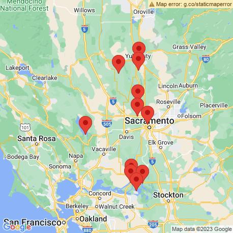 Карта рыбалки – Сакраменто