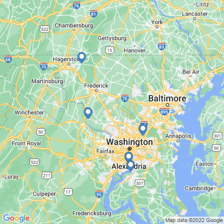 map of fishing charters in Poolesville