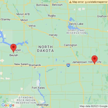 map of fishing charters in North Dakota
