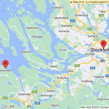 map of fishing charters in Mälaren