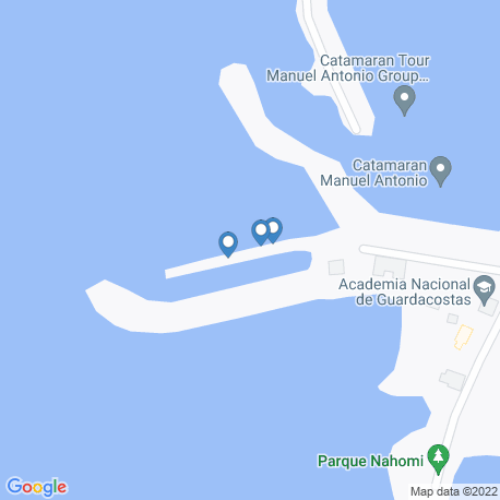 map of fishing charters in Puntarenas Province