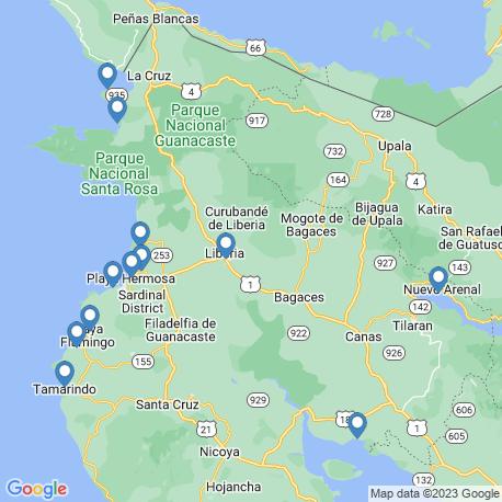 Карта рыбалки – Гуанакасте
