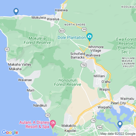 map of fishing charters in Oahu