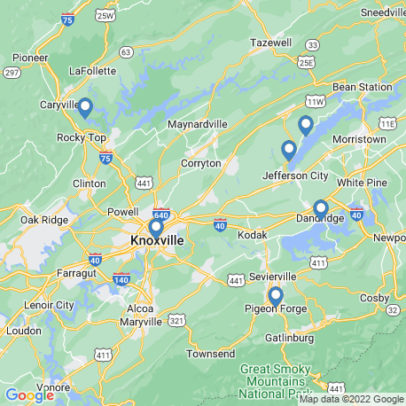 map of fishing charters in Jefferson City