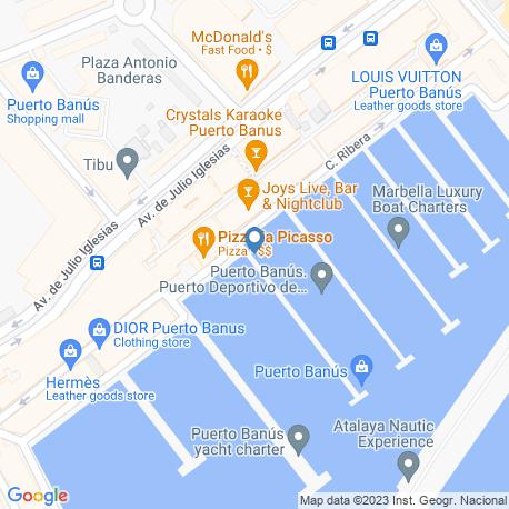 map of fishing charters in Fuengirola