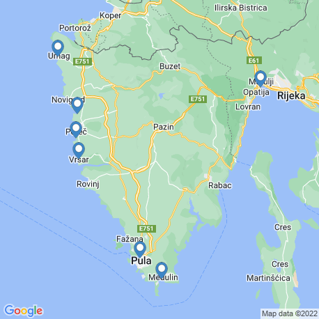 Карта рыбалки – Врсар