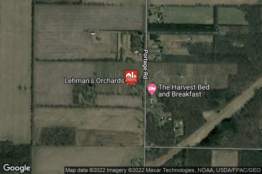 Location Map for Lehmans Orchard U-Pick and Winery