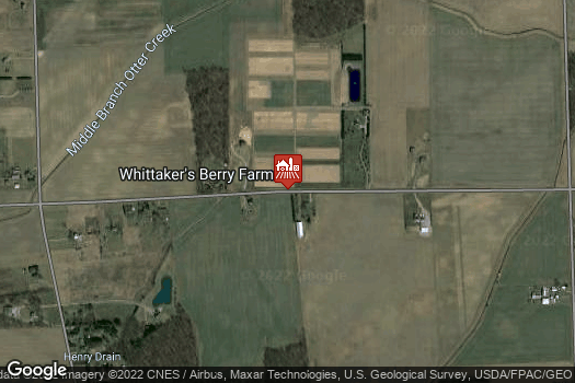 Location Map for Whittaker's Berry Farm