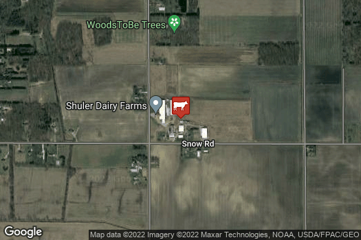 Location Map for Shuler Dairy Farms