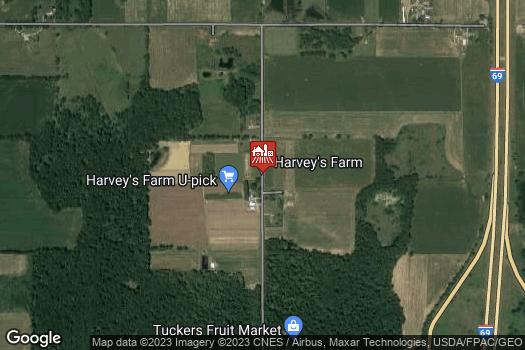 Location Map for Harvey's Farm